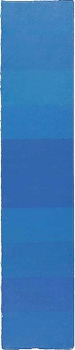 Farbpartitur blau, 100x20
