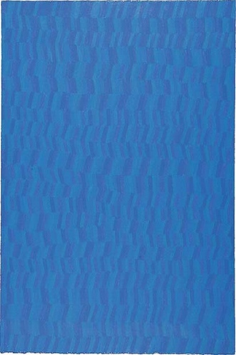 Farbpartitur blau, 100x70